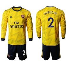 Arsenal 2019/20 #2 Away Long Sleeve Yellow Soccer Jersey