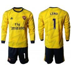 Arsenal 2019/20 #1 Away Long Sleeve Yellow Soccer Jersey