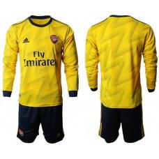 Arsenal 2019/20 Away Long Sleeve Yellow Soccer Jersey