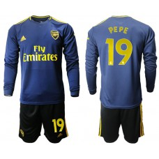 Arsenal 2019/20 #19 Away Long Sleeve Yellow Soccer Jersey