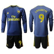 Arsenal 2019/20 #9 Away Long Sleeve Yellow Soccer Jersey