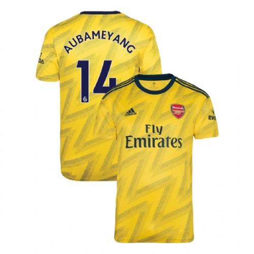 2019/20 Arsenal #14 Pierre-Emerick Aubameyang Yellow Away Authentic Jersey