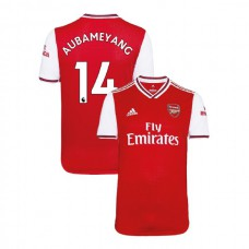 2019/20 Arsenal #14 Pierre-Emerick Aubameyang Red Home Authentic Jersey