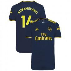 2019/20 Arsenal #14 Pierre-Emerick Aubameyang Navy Third Authentic Jersey