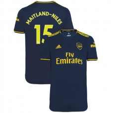 2019/20 Arsenal #15 Ainsley Maitland-Niles Navy Third Authentic Jersey