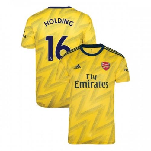 2019/20 Arsenal #16 Rob Holding Yellow Away Replica Jersey