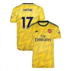 2019/20 Arsenal #17 Alex Iwobi Yellow Away Authentic Jersey