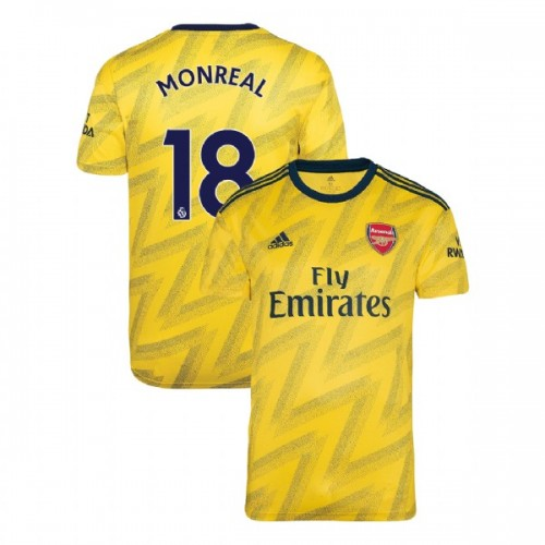 2019/20 Arsenal #18 Nacho Monreal Yellow Away Authentic Jersey
