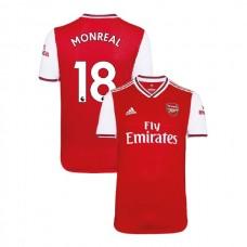 2019/20 Arsenal #18 Nacho Monreal Red Home Replica Jersey