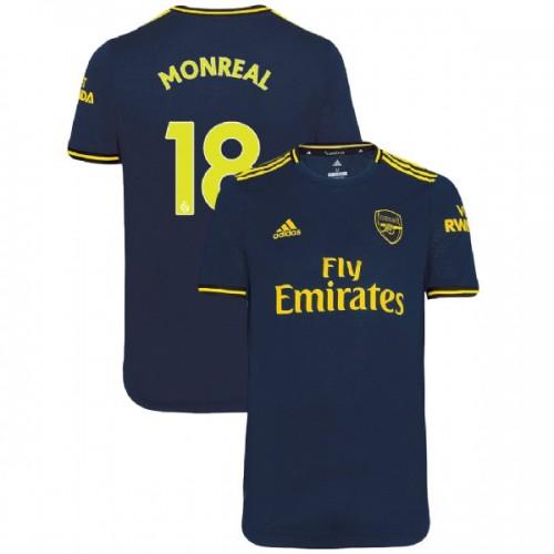 2019/20 Arsenal #18 Nacho Monreal Navy Third Authentic Jersey