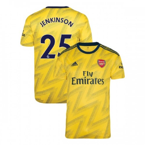 2019/20 Arsenal #25 Carl Jenkinson Yellow Away Replica Jersey