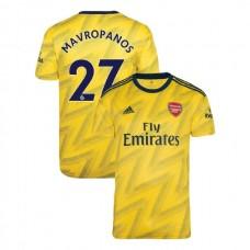 2019/20 Arsenal #27 Konstantinos Mavropanos Yellow Away Authentic Jersey