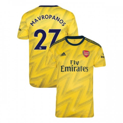 2019/20 Arsenal #27 Konstantinos Mavropanos Yellow Away Replica Jersey