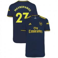 2019/20 Arsenal #27 Konstantinos Mavropanos Navy Third Authentic Jersey