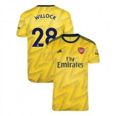 2019/20 Arsenal #28 Joe Willock Yellow Away Authentic Jersey
