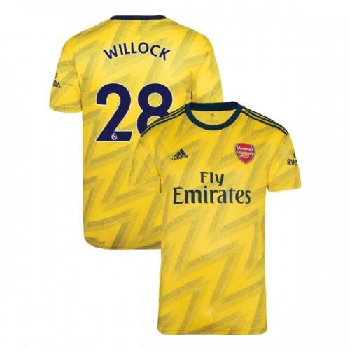 2019/20 Arsenal #28 Joe Willock Yellow Away Replica Jersey
