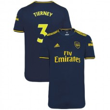 2019/20 Arsenal #3 Kieran Tierney Navy Third Authentic Jersey