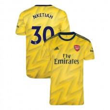 2019/20 Arsenal #30 Eddie Nketiah Yellow Away Authentic Jersey