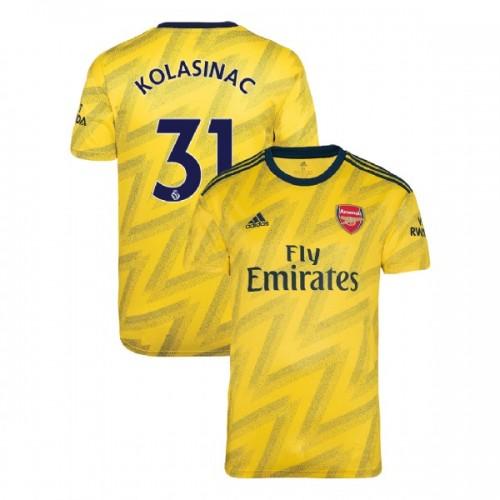 2019/20 Arsenal #31 Sead Kolasinac Yellow Away Authentic Jersey