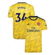 2019/20 Arsenal #34 Granit Xhaka Yellow Away Authentic Jersey