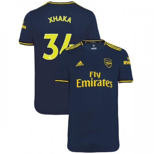 2019/20 Arsenal #34 Granit Xhaka Navy Third Authentic Jersey