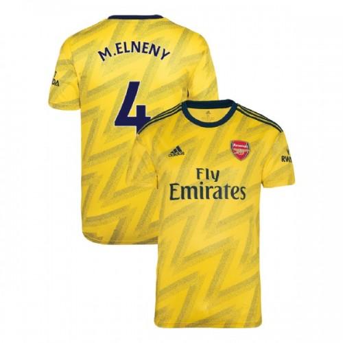 2019/20 Arsenal #4 Mohamed Elneny Yellow Away Replica Jersey