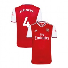 2019/20 Arsenal #4 Mohamed Elneny Red Home Replica Jersey