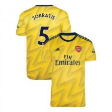2019/20 Arsenal #5 Sokratis Papastathopoulos Yellow Away Authentic Jersey