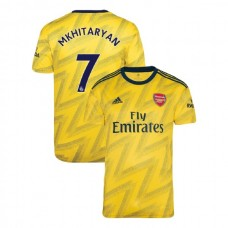 2019/20 Arsenal #7 Henrikh Mkhitaryan Yellow Away Authentic Jersey