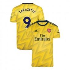 2019/20 Arsenal #9 Alexandre Lacazette Yellow Away Authentic Jersey