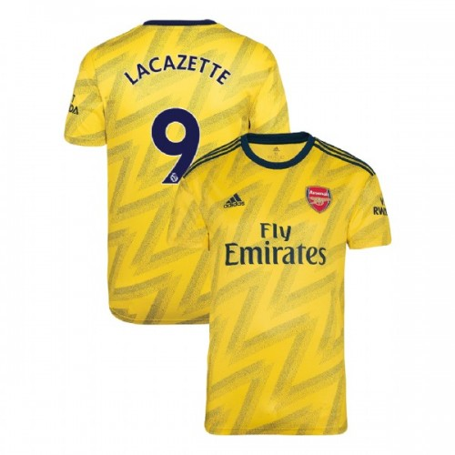 2019/20 Arsenal #9 Alexandre Lacazette Yellow Away Replica Jersey