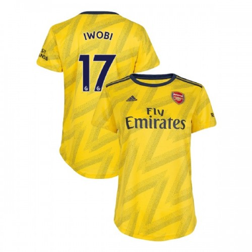 WOMEN'S Arsenal 2019/20 Away #17 Alex Iwobi Yellow Replica Jersey