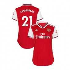 WOMEN'S Arsenal 2019/20 Home #21 Calum Chambers Red Authentic Jersey