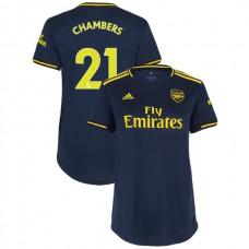 WOMEN'S Arsenal 2019/20 Third #21 Calum Chambers Navy Authentic Jersey