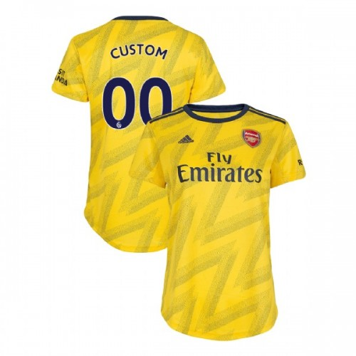 WOMEN'S Arsenal 2019/20 Away #00 Custom Yellow Authentic Jersey