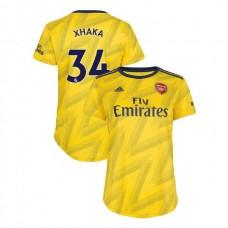 WOMEN'S Arsenal 2019/20 Away #34 Granit Xhaka Yellow Authentic Jersey