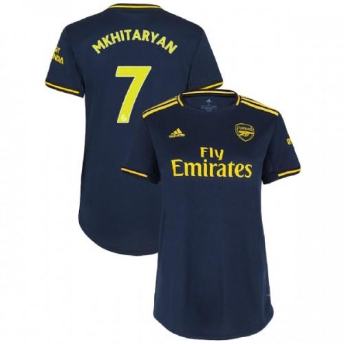 WOMEN'S Arsenal 2019/20 Third #7 Henrikh Mkhitaryan Navy Authentic Jersey