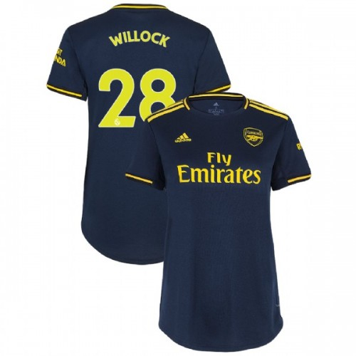 WOMEN'S Arsenal 2019/20 Third #28 Joe Willock Navy Authentic Jersey