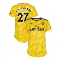 WOMEN'S Arsenal 2019/20 Away #27 Konstantinos Mavropanos Yellow Authentic Jersey