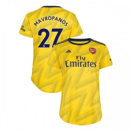 WOMEN'S Arsenal 2019/20 Away #27 Konstantinos Mavropanos Yellow Replica Jersey