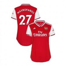 WOMEN'S Arsenal 2019/20 Home #27 Konstantinos Mavropanos Red Authentic Jersey