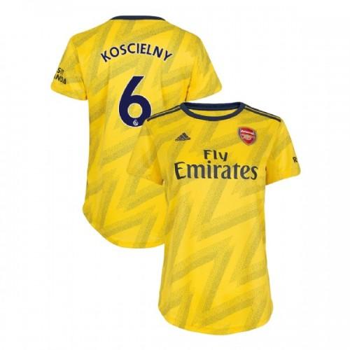 WOMEN'S Arsenal 2019/20 Away #6 Laurent Koscielny Yellow Authentic Jersey