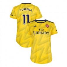 WOMEN'S Arsenal 2019/20 Away #11 Lucas Torreira Yellow Replica Jersey