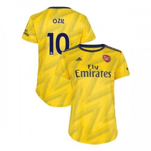 WOMEN'S Arsenal 2019/20 Away #10 Mesut Ozil Yellow Authentic Jersey