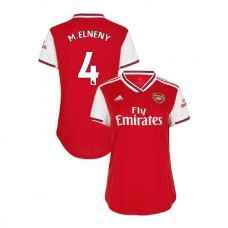 WOMEN'S Arsenal 2019/20 Home #4 Mohamed Elneny Red Authentic Jersey