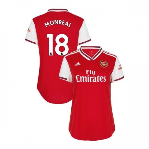 WOMEN'S Arsenal 2019/20 Home #18 Nacho Monreal Red Authentic Jersey