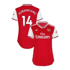 WOMEN'S Arsenal 2019/20 Home #14 Pierre-Emerick Aubameyang Red Authentic Jersey