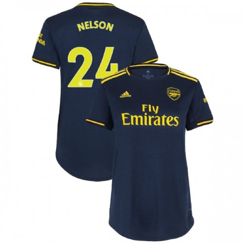 WOMEN'S Arsenal 2019/20 Third #24 Reiss Nelson Navy Authentic Jersey
