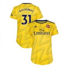 WOMEN'S Arsenal 2019/20 Away #31 Sead Kolasinac Yellow Replica Jersey