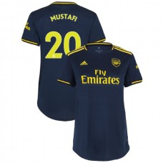 WOMEN'S Arsenal 2019/20 Third #20 Shkodran Mustafi Navy Authentic Jersey